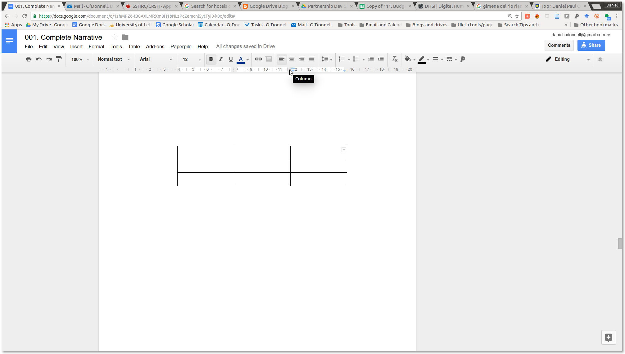 Daniel Paul O Donnell How To Make A Table Wider In Google Docs