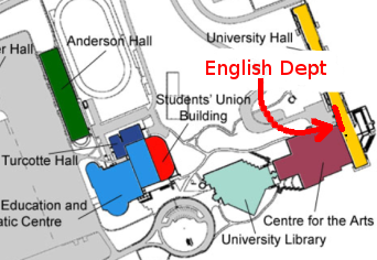 Small map of campus.